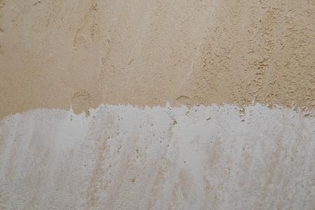 a wall with partially plastered plaster gypsum plaster Zdjęcie Seryjne