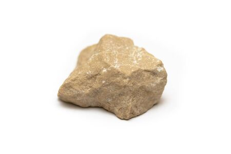 light yellow-brown stone on a white background