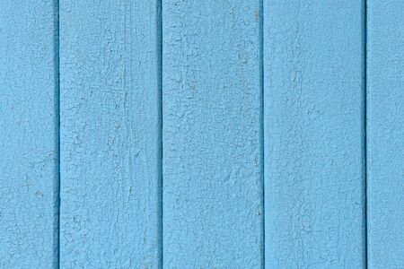 wooden vertical boards with cracked old blue paint Zdjęcie Seryjne