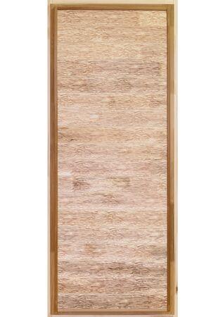 New wooden bath door with textured surface Zdjęcie Seryjne