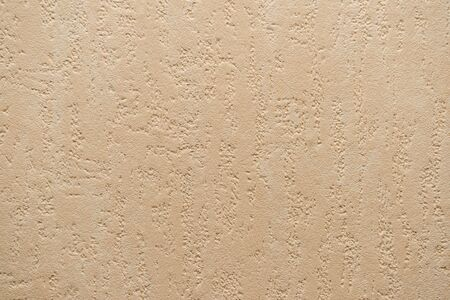 The texture of the beige surface of the wall made using Venetian plaster and wallpaper