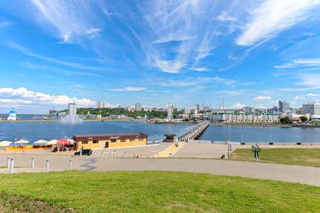 June 21, 2019: Embankment of the Cheboksary Bay. Cheboksary. Russia. Editorial