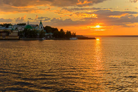 July 5, 2014: Embankment of the Cheboksary Bay. Cheboksary. Russia. Editorial