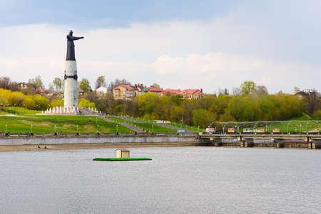 May 3, 2016: Statue of the patron mother on the shore of Cheboksary Bay. Cheboksary. Russia.