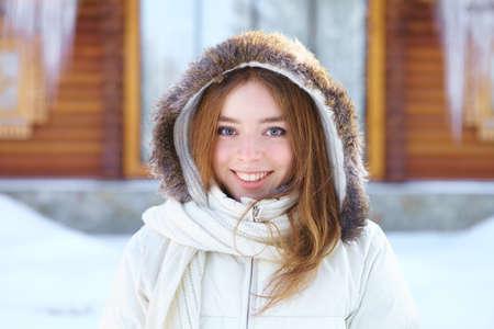 Young beautiful woman  Winter portrait  photo