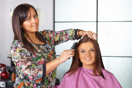 haircut: Hair salon  Women s haircut  Combing