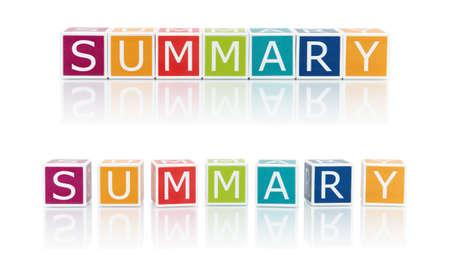 Report Topics With Color Blocks  Summary  版權商用圖片