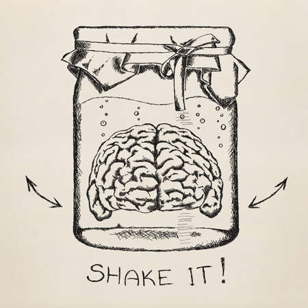 Concept van de creativiteit Sketch Gemakkelijk te scheiden van de achtergrond
