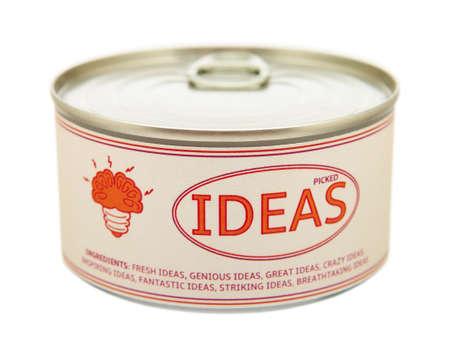 ブリキ缶の創造性の概念 写真素材