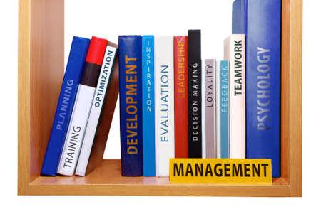 Bookshelf with management knowledge and skills Stock fotó - 23052005