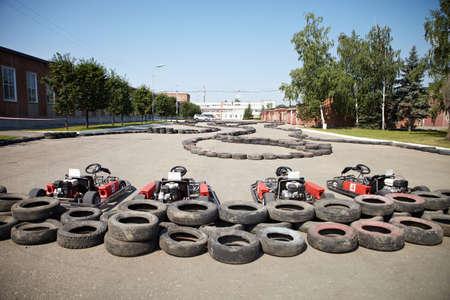 carting: Kart Racing  Cars at pit stop