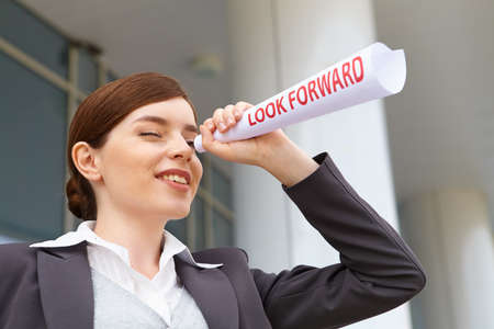 Businesswoman Look forward concept