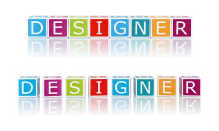 Report Topics With Color Blocks. Designer.  photo