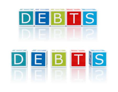 Report Topics With Color Blocks. Debts.  photo