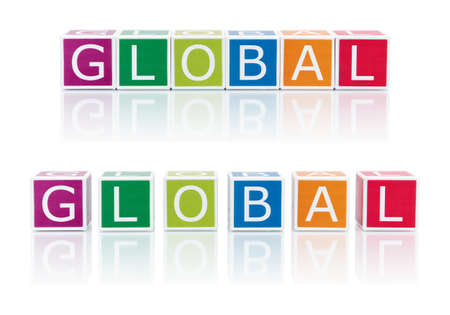 Report Topics With Color Blocks. Global. photo