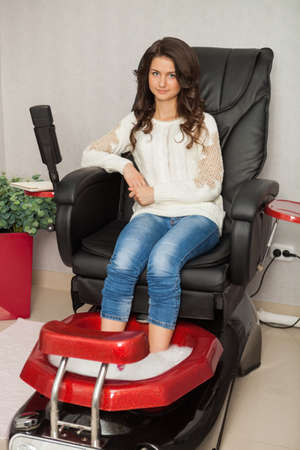 Spa salon. Pedicure. photo