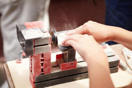 filings: Training turning lathe for wood.