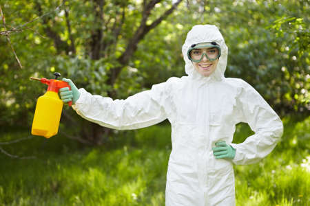 Ecology and environmental pollution. Insecticide. photo
