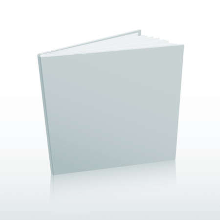 Blank white book cover template. Vector