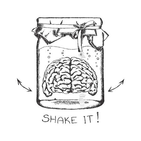 draft: concept of creativity with human brain.