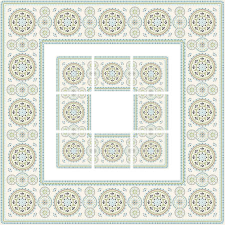 ethnical: Easter pattern with separated tiles.
