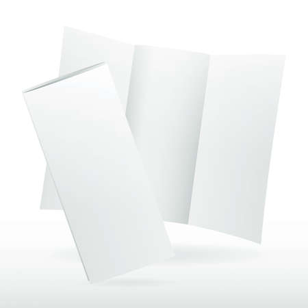 tri: Blank white vector tri fold brochure template. Illustration