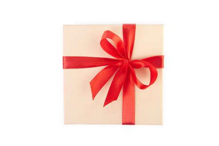 lazo regalo: Caja de regalo con el camino de recortes.