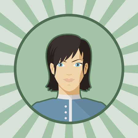 Single vector woman avatar  Vector