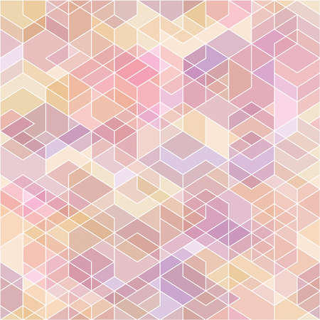 hexahedron: Abstract geometric background with polygons. Illustration