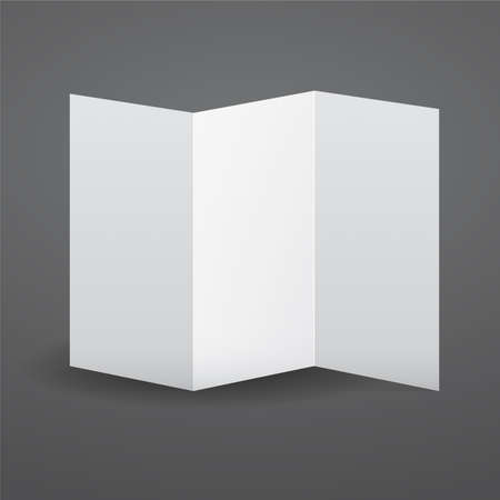 Blank White Vector Tri Fold Brochure Template Royalty Free Cliparts