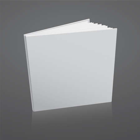 blank book cover: Blank vector white book cover template.