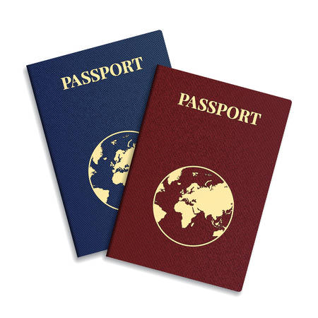 international passport with globe