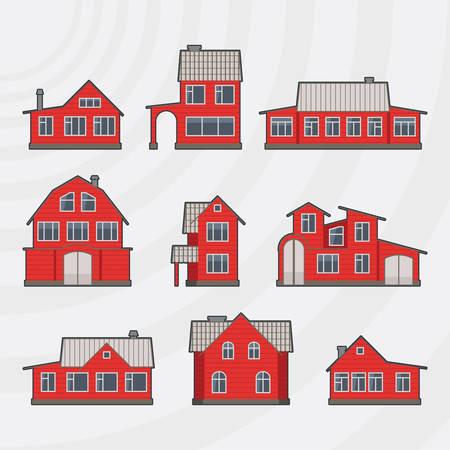 townhouses: Adosados ??icon set