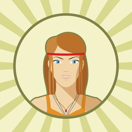 indie: Vector mujer sola avatar