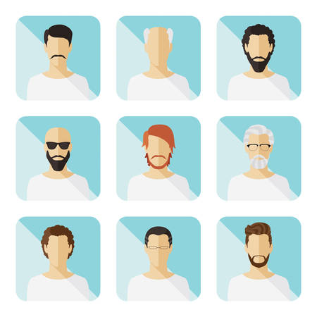 Set of vector casual characters in flat design  Vector