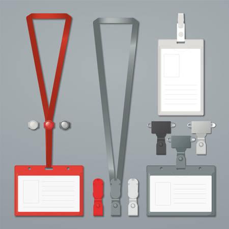 lanyard: Plantillas de insignia, de clip y cord�n