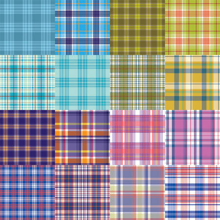 holey: Big tartan textile texture set