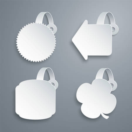 popup: wobbler templates set Illustration