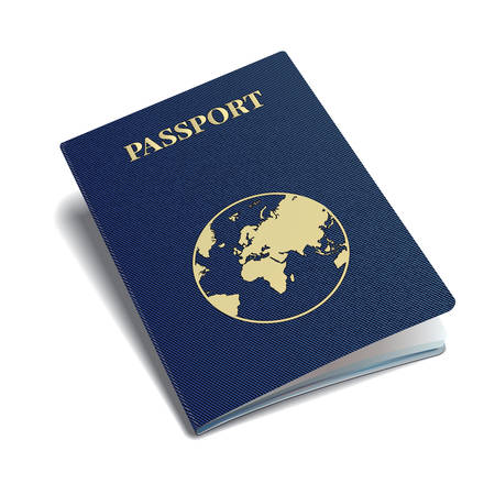 citizenship: international passport with globe