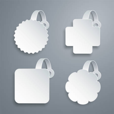 wobbler: Vector wobbler templates set Illustration