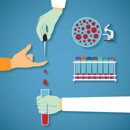 globulo rojo: Vector concepto de análisis de sangre comunes Vectores