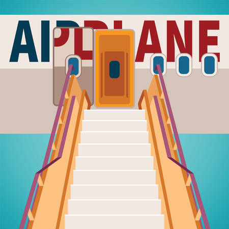 Vector aircraft boarding bridge concept Ilustração
