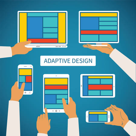 adaptive: Vector concept of modern adaptive responsive web and application design