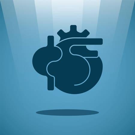 heart surgery: Vector human heart concept Illustration