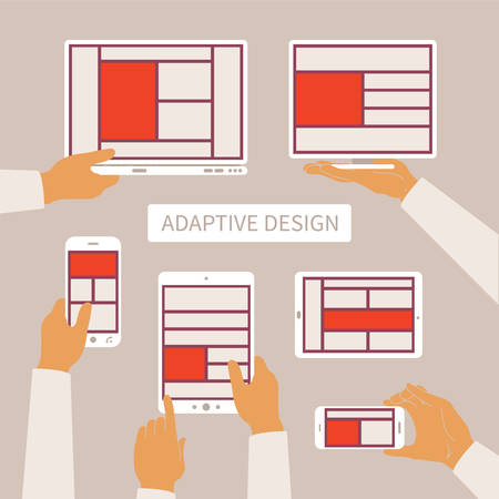 adaptive: concept of modern adaptive responsive web and application design