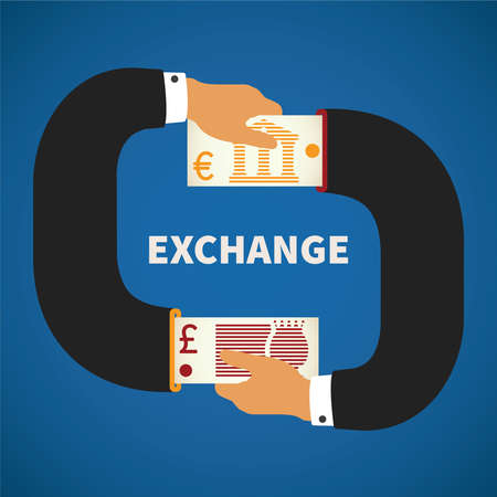 cash cycle: concept of currency exchange process