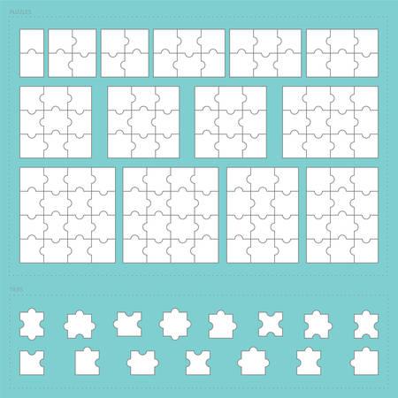 parts of paper jigsaw puzzle set