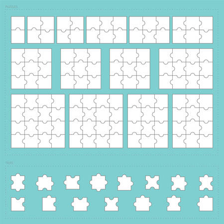 challenges: parts of paper jigsaw puzzle set