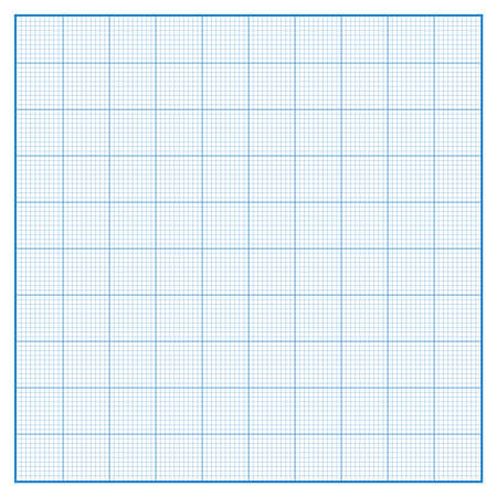 metric: Vector square engineering graph paper with 10 metric divisions
