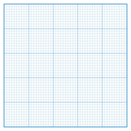 metric: Vector square engineering graph paper with 5 metric divisions